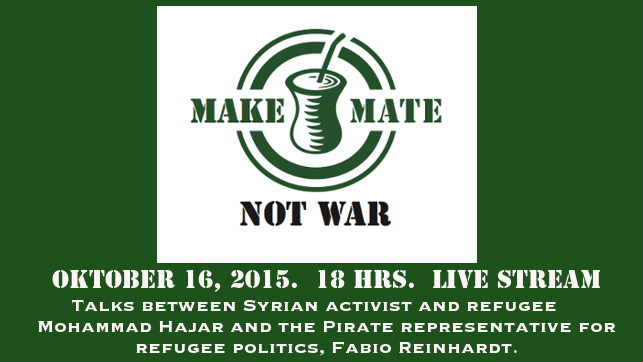Mate and Politics:  Oct 16 @ 18 hrs